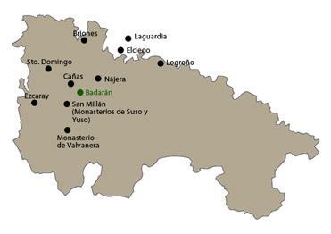 Mapa de lugares cercanos al Hotel Conde de Badarán